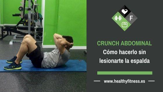 Crunch abdominal. Cómo hacerlo sin lesionarte la espalda