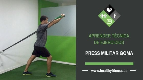 Press militar con goma – Ejercicio de hombro para entrenar en casa