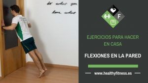 flexiones en la pared