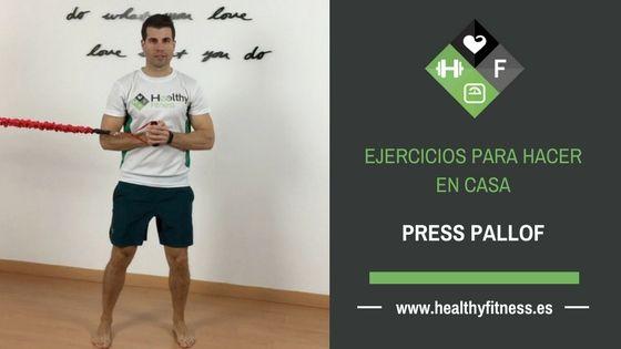 Press pallof – Ejercicio para entrenar los abdominales en casa