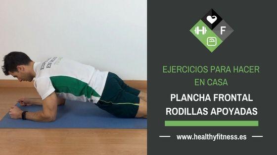 Plancha frontal con rodillas apoyadas – Ejercicio para abdominales