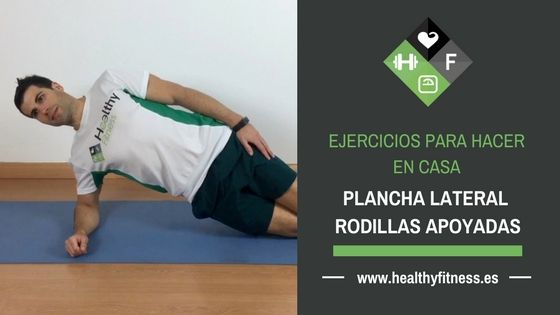 Plancha lateral con rodillas apoyadas – Ejercicio para los abdominales