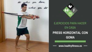 press horizontal con goma