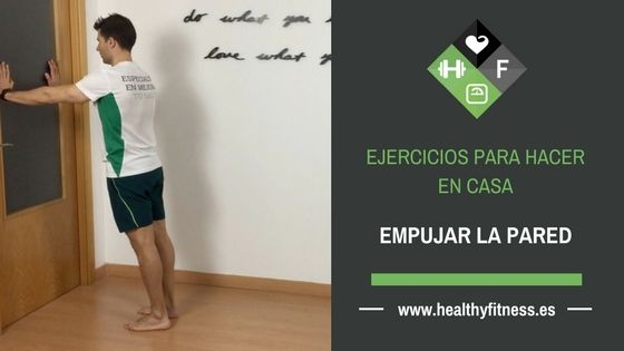Retracción escapular en la pared – Ejercicio para el serrato anterior