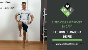 ejercicio flexion cadera de pie