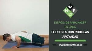 flexiones con rodillas apoyadas